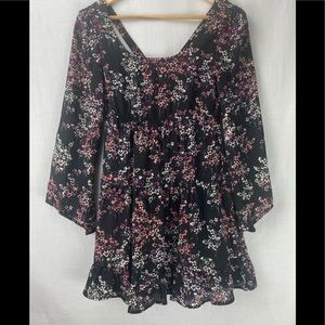 Socialite casual play lined floral dress ruffle